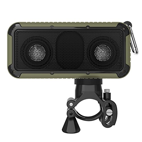 (MQHY Bathroom Shower Led Lighting Can Bubble Water Bluetooth Speakers Outdoor Sports Ride Climbing Waterproof Lighting Audio Square Usb Charging Can Call Nfc Function Music Subwoofer,Army green)