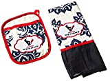 Team Sports America NFL Houston Texans Logo Pot Holder and Kitchen Towel Set, Small, Multicolored
