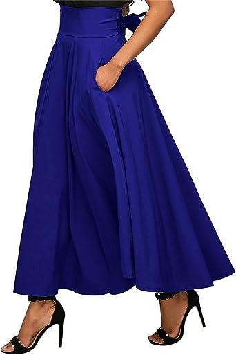 Tomwell Mujeres Vintage Bowknot Básica Falda Años 50 A-Line ...