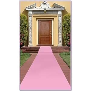 Beistle 50087 rojo alfombra de pasillo rosa hogar - Amazon alfombras pasillo ...