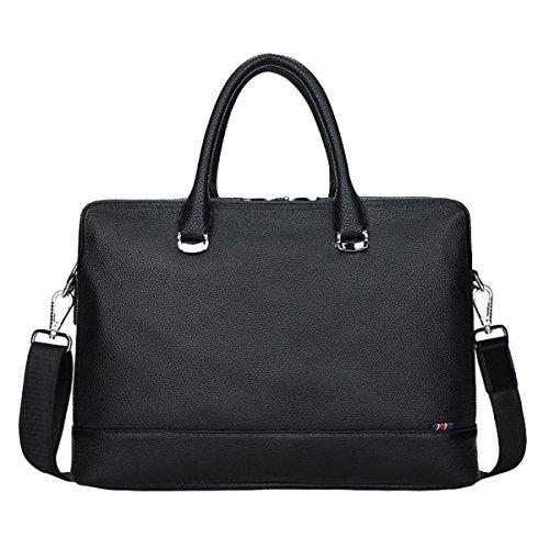 Leisure Male Leather Black1 Business Handbag Computer Messenger Fashion Briefcase Bag Outdoor OtUUw