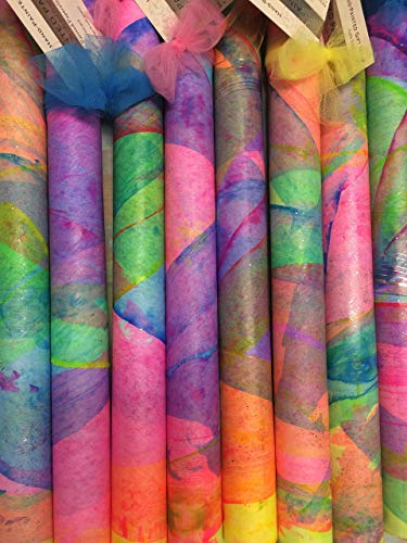 """PAINTED PAPERS Gift Wrap-26""""x 60"""" Summer Madras-Brushed-1 sheet"""