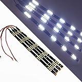 "SOCAL-LED White 30cm 12"" Flexible LED Strips High Power 5050 15 SMD Car DRL Under Dash Accent Light (Pack of 4)"