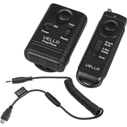 Vello FreeWave Remote Shutter Release Kit for Select Nikon & Fuji Cameras - Wireless Rf Shutter Release