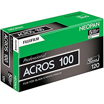 Fujifilm 102918 Neopan Black and White Negative 120 mm Film, 5-Pack