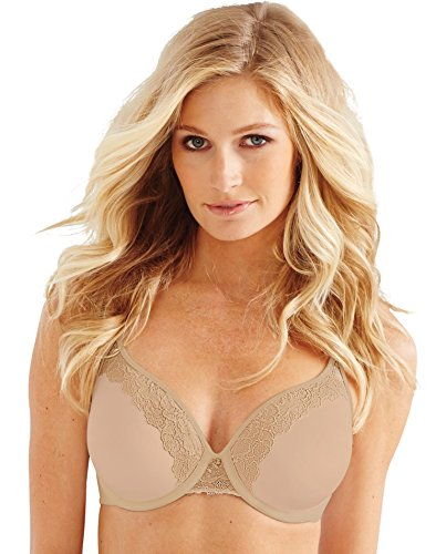 One Lift (Bali Women's One Smooth U Ultra Light Lace with Lift Underwire, Nude, 40D)