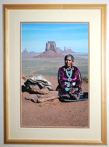 Navajo Woman  Monument Valley  Arizona  Framed Photograph By David Fingerhut