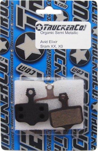 Pads Elixir Avid (Truckerco Organic Semi-Metallic disc brake pads Sram Avid Elixir Models, Elixir 9, 7, 5, 3, 1 Elixir C, R, CR, CR Mag Sram XX, XX WORLD CUP, XO, XO Silver)