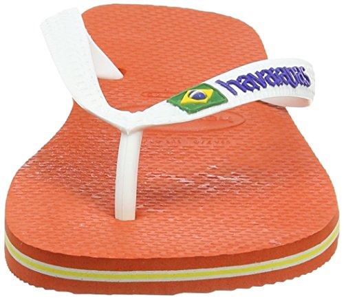 Havaianas Hav. Brasil Logo - Chanclas, Unisex Naranja (Pumpkin 1006)