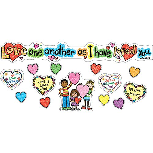Carson Dellosa Christian Love One Another Bulletin Board Set (210020) -