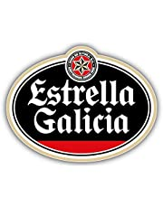 "Estrella Galicia Beer Logo Car Bumper Sticker Decal 5"" X 4"""