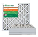 AFB Bronze MERV 6 18x20x2 Pleated AC Furnace Air Filter. Pack of 4 Filters. 100% produced in the USA.