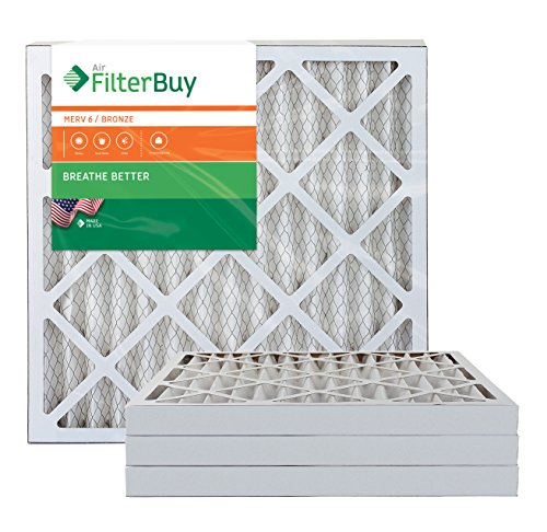 AFB Bronze MERV 6 18x20x2 Pleated AC Furnace Air Filter. Pack of 4 Filters. 100% produced in the USA. by FilterBuy
