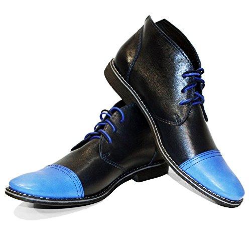 Caviglia In Modello Per Italiana Liscia Chukka Blu Lacci Uomo Vacchetta Peppeshoes Pelle Noble Stivaletti CXwqnfwA