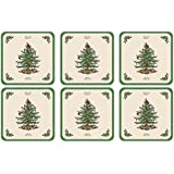 Spode Christmas Tree Hardback Coasters, Set of 6