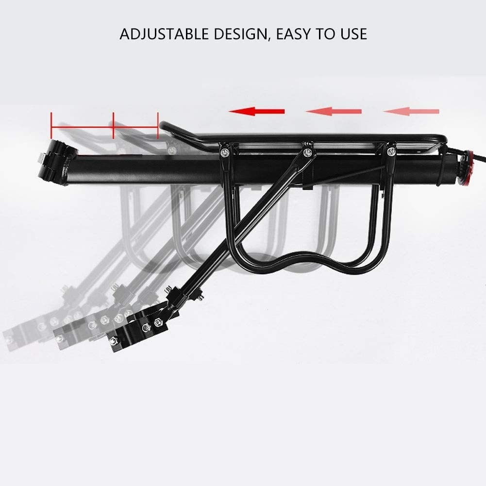 Portaequipajes Ajustable para Bicicleta de Monta/ña con Reflector Delaman Asiento Trasero de la Bicicleta Portaequipajes del Asiento Trasero de Liberaci/ón R/ápida M/áximo 50 kg
