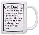 Cat Lover Gifts Best Cat Dad Definition Cat Gag Gifts Crazy Cat Man Gift Coffee Mug Tea Cup White