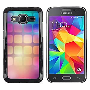 LECELL--Funda protectora / Cubierta / Piel For Samsung Galaxy Core Prime SM-G360 -- Pattern Wallpaper Squares Gradient Color --