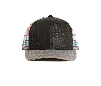 Rock   Roll Denim Red   Turquoise Aztec Printed Cap at Amazon Men s ... e395365f786