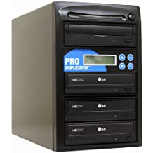 Produplicator 1 to 3 24X CD DVD Duplicator/Copier (M-Disc Support Burner) with Promotional Nero CD/DVD Burning Software (Standalone Duplication Tower)