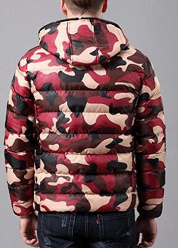 Winter Red UK Camo Lightweight Thicken Hooded today Outwear Mens Down Jacket BOHqwEHa