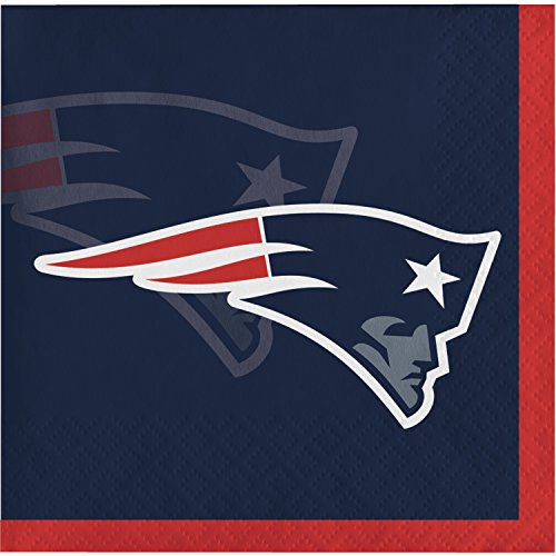 New England Patriots Beverage Napkins, 48 ct