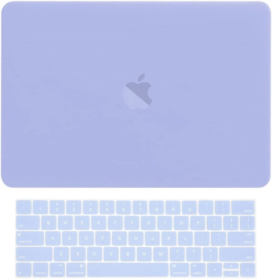 """TOP CASE MacBook Pro 15 inch Case 2019 2018 2017 2016 Release A1707 A1990, 2 in 1 Signature Bundle Rubberized Hard Case + Keyboard Cover Compatible MacBook Pro 15"""" Touch Bar - Serenity Blue"""