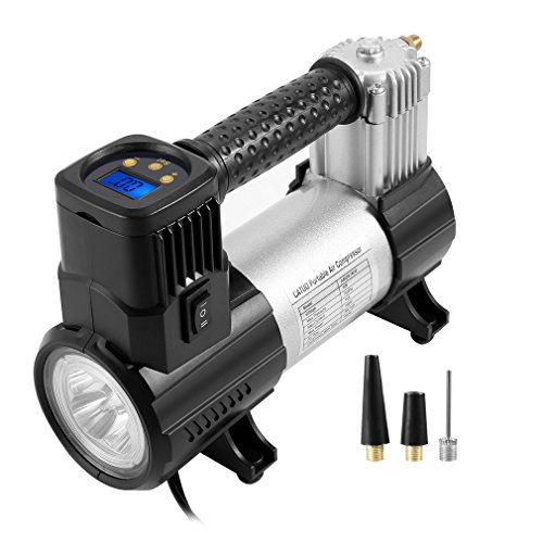 Portable Air Compressor Pump CATUO Portable Digital Tire Inflator 12V 150PSI Tire Air Compressor with LED Digital Pressure Gauge