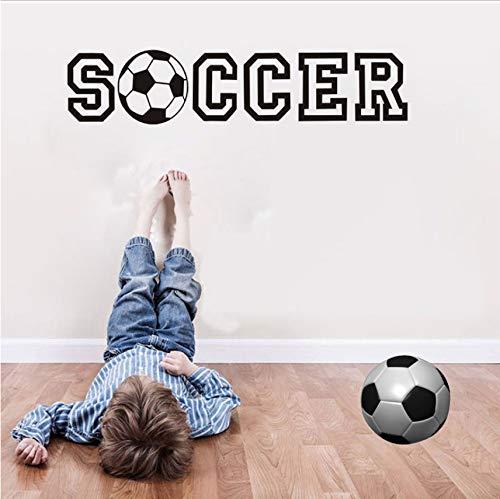 Waofe Balón De Fútbol De Fútbol Etiqueta De La Pared Para ...