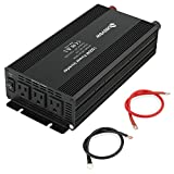 1500W Power Inverter With AC Outlets Converter 12 V DC To 110 V AC For Home Car RV
