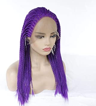 Cabello trenzas peluca larga azul 22 pulgadas densidad pelucas ...