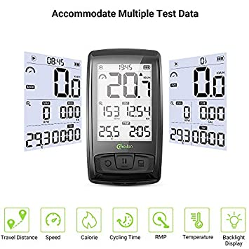 Meilan Bike Computer Wireless 2.5 Inch Cycling Computer Bicycle Speedometer and Odometer Cycle Computer with ANT Speed Cadence Sensor