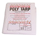 Flame Resistant Poly Tarp - 100% Waterproof, Washable, Mildew & Rot Resistant (20x30)