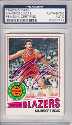 Lucas Autographed Basketball (Maurice Lucas Portland Trail Blazers 1977 Topps Signed AUTOGRAPH - PSA/DNA Certified - Basketball Autographed Cards)