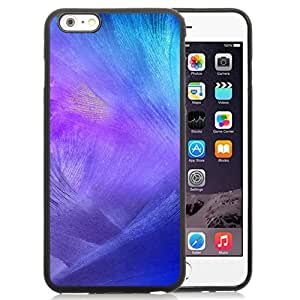 NEW Unique Custom Designed iPhone 6 Plus 5.5 Inch Phone Case With Purple Feather Brush Strokes_Black Phone Case wangjiang maoyi