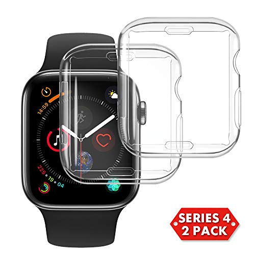 NotoCity Compatible Apple Watch Series 4 40mm Screen Protector, 2018 New Overall Protective Soft Case TPU HD Clear Ultra-Thin Cover Compatible Iwatch Series 4