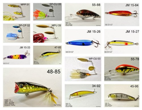 Akuna [PA] Pros' pick recommendation collection of lures for Bass, Panfish, Trout, Pike and Walleye fishing in Pennsylvania(Bass 15-A) (Best Trout Fishing In Pa)
