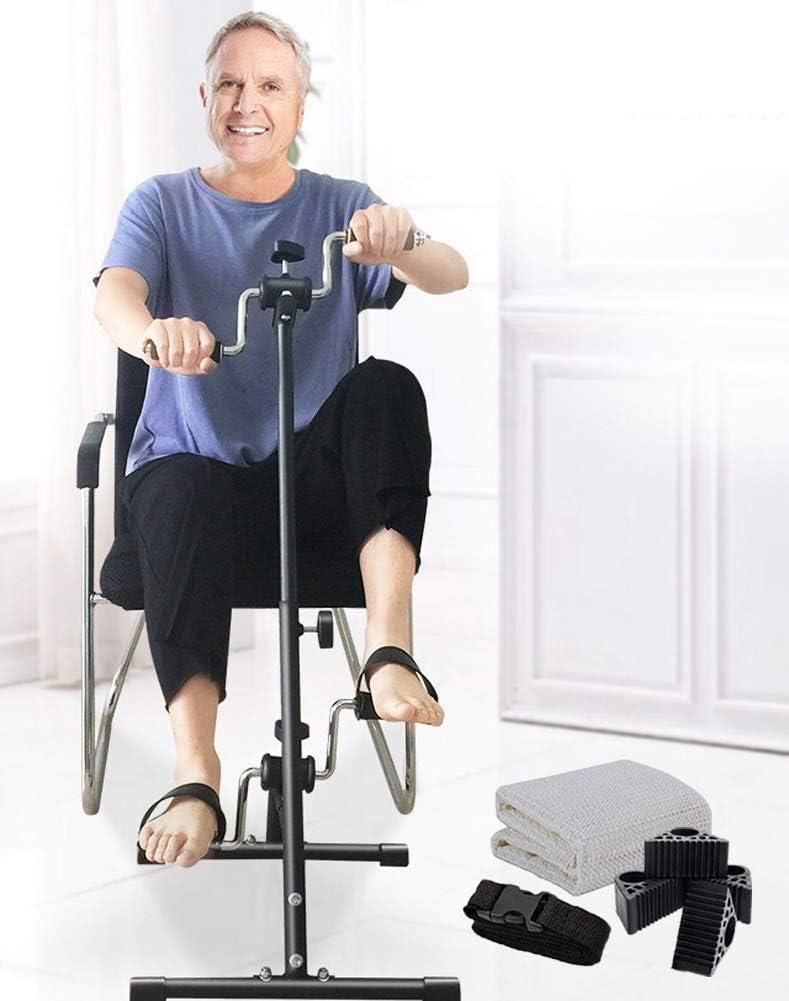 Pedal Exerciser Bike Hand Arm Leg and Knee Peddler Adjustable Fitness Equipment for Seniors, Elderly Home Pedal Exercise Bike for Total Body