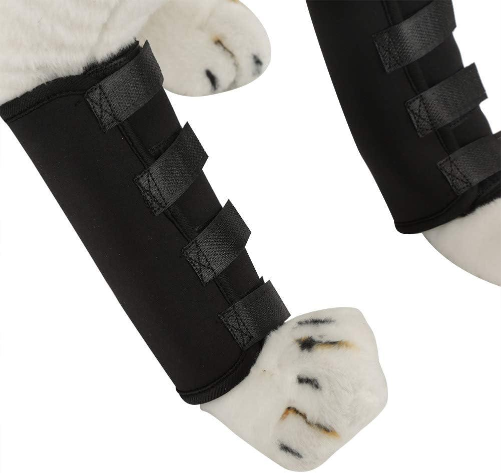 Jadeshay Ortesis de Rodilla para Perro - Patas de Perro Transpirables Brace para la articulación Rodillas Almohadillas Protector Protector para Lesiones de Vendas Envoltura, 1 par (tamaño : S)