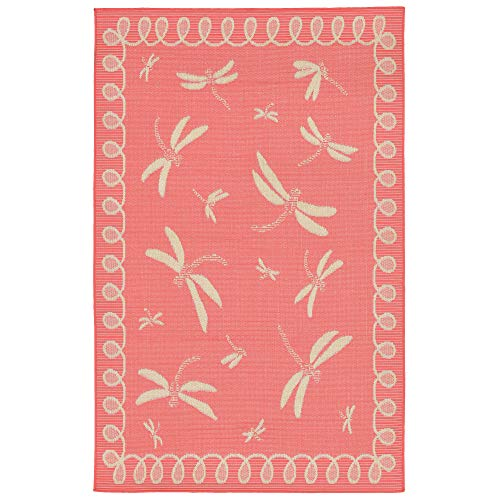 Liora Manne TER80179127 1791/27 Coral Terrace Casual Dragonfly Indoor/Outdoor Rug, 7'10