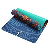 Lotus Pattern Suede Material Non-Slip Yoga Mat 5Mm For Fitness Losing