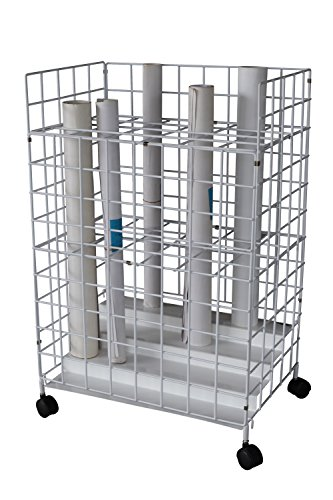 (Sandusky Buddy Products Mobile Roll File, 24 Compartments, White (8010-9))