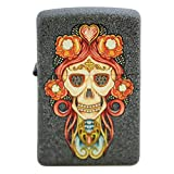 Skull Pendant Flower Cross Iron Stone Matte Custom Zippo Windproof Collectible Lighter. Made in USA Limited Edition & Rare