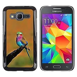 Be Good Phone Accessory // Dura Cáscara cubierta Protectora Caso Carcasa Funda de Protección para Samsung Galaxy Core Prime SM-G360 // orange vibrant colorful bird summer