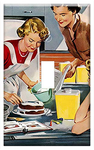 (Switch Plate Single Toggle - Retro Vintage Home Cake Dessert Decorating Icing)