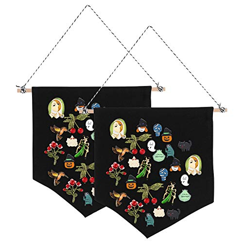 - Havenport 2 Pieces Enamel Pin Wall Display Banners Blank Canvas Banner for Display Pins, Buttons and Lapel Collections(27.5 X 24.5 cm Black)