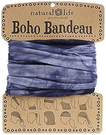 Amazon.com  Navy   White Tie-Dye Boho Bandeau  Beauty 38f344d328d