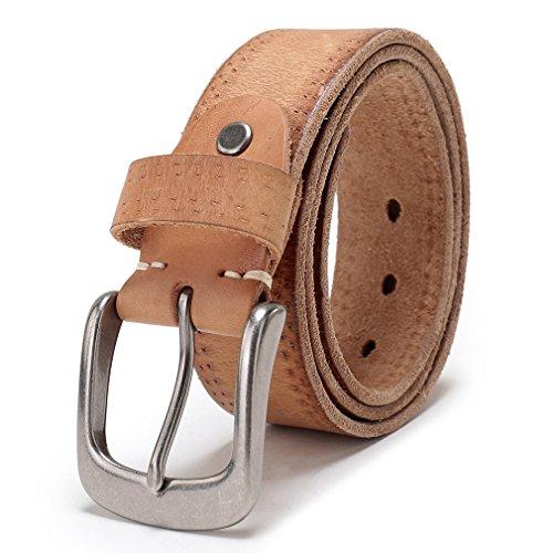 Light Brown Leather Belt Strap (Beltox Fine Men's Full Grain 1 1/2
