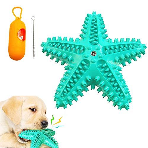 Kauspielzeug für Hunde,Hundezahnreinigungsspielzeug,Quietschspielzeug aus Naturkautschuk,Wasserspielzeug HundZahnpflege…