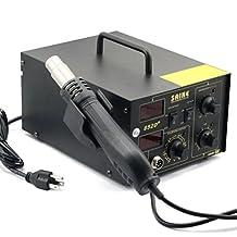 Saike 852D+ Hot Air Gun & Digital Soldering Iron 2 in 1 System 110V